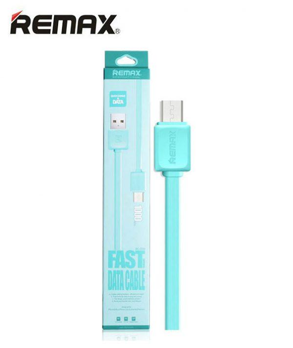 Кабель Micro USB REMAX international Fast series Data Cable RC-008m Blue(голубой)  ультрапрочный 1m