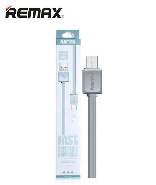 Кабель Micro USB REMAX international Fast series Data Cable RC-008m Grey (серый)  ультрапрочный 1m