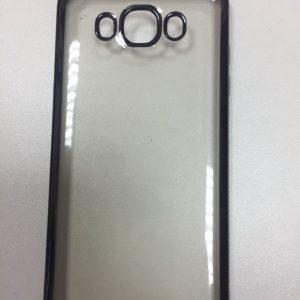 Силиконовый чехол с глянцевым ободком для Samsung Galaxy J7 2016 (J710) Black