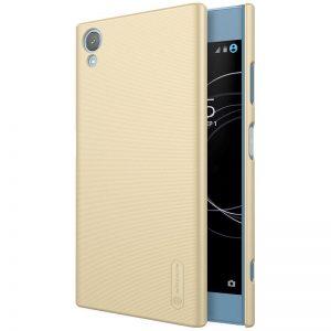 Пластиковый чехол Nillkin Matte для Sony Xperia XA1 Plus / XA1 Plus Dual + пленка (Золотой)