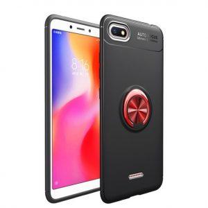 Cиликоновый чехол Deen ColorRing с креплением под магнитный держатель  для Xiaomi Redmi 6A (Red)