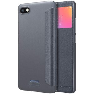 Kожаный чехол (книжка) Nillkin Sparkle Series для Xiaomi Redmi 6A (Black)