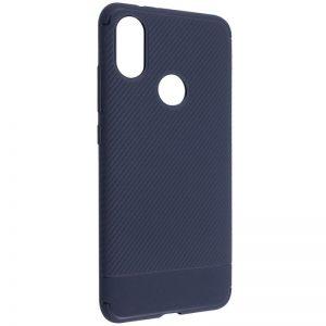 Синий силиконовый (TPU) чехол (накладка) Carbon для Xiaomi Mi A2 Lite / Xiaomi Redmi 6 Pro (Blue)