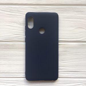 Матовый силиконовый TPU чехол для Xiaomi Redmi Note 5 / 5 Pro – Синий
