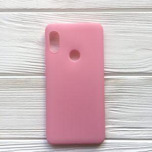 Матовый силиконовый TPU чехол для Xiaomi Redmi Note 5 / 5 Pro (Розовый)