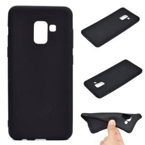 Матовой силиконовый TPU чехол для Samsung Galaxy A8 Plus 2018 (A730) – Черный