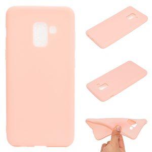 Матовой силиконовый TPU чехол для Samsung Galaxy A8 Plus 2018 (A730) – Розовый