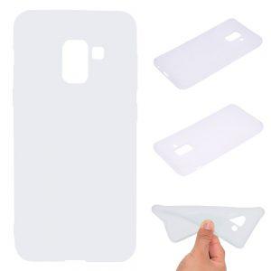 Матовой силиконовый TPU чехол для Samsung Galaxy A8 Plus 2018 (A730) – Белый
