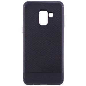 Cиликоновый (TPU) чехол Carbon для Samsung A530 Galaxy A8 2018 (Черный)