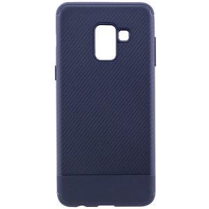 Cиликоновый (TPU) чехол Carbon для Samsung A530 Galaxy A8 2018 (Синий)