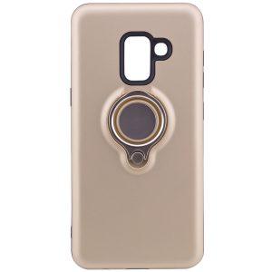 TPU+PC чехол Deen с креплением под магнитный держатель для Samsung A530 Galaxy A8 (2018) Gold
