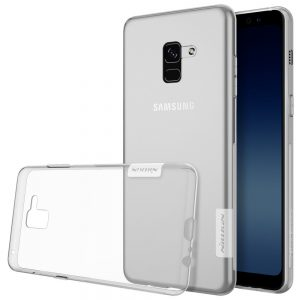 Прозрачный силиконовый (TPU) чехол (накладка) Nillkin Nature Series для Samsung A530 Galaxy A8 (2018) Clear