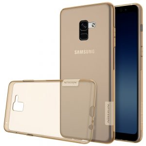 TPU чехол Nillkin Nature Series для Samsung A530 Galaxy A8 (2018) Clear Gold