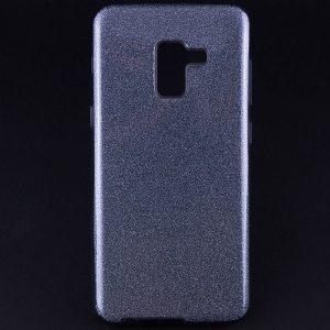 Силиконовый (TPU+PC) чехол Shine с блестками для Samsung Galaxy A6 2018 (Черный)