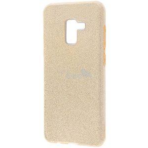 Силиконовый (TPU+PC) чехол Shine с блестками для Samsung A530 Galaxy A8 2018 (Золотой)