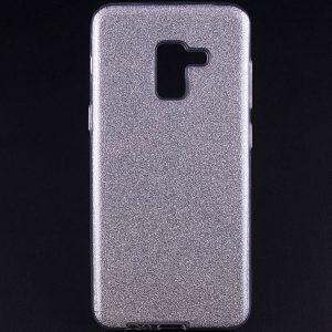 Силиконовый (TPU+PC) чехол Shine с блестками для Samsung A530 Galaxy A8 2018 (Серебряный)