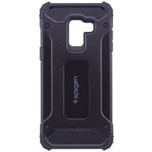 Черный бронированный (противоударный) TPU+PC чехол SPIGEN (HC) для Samsung A530 Galaxy A8 (2018) Black