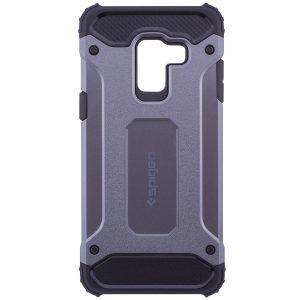 Бронированный противоударный TPU+PC чехол SPIGEN (HC) для Samsung A530 Galaxy A8 (2018) Grey