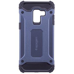 Противоударный бронированный чехол Spigen  для Samsung A530 Galaxy A8 2018 (Navy Blue)