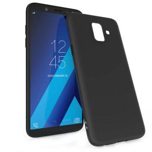 Матовый силиконовый TPU чехол для Samsung Galaxy A6 2018 (A600) –Черный
