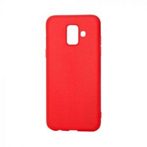 Матовый силиконовый TPU чехол для Samsung Galaxy A6 2018 (A600) – Красный