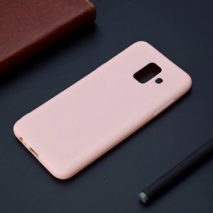 Матовый силиконовый TPU чехол для Samsung Galaxy A6 2018 (A600) – Розовый