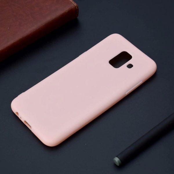 Силиконовый чехол Candy для Samsung Galaxy A6 (2018) Розовый