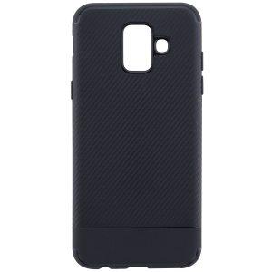 Cиликоновый (TPU) чехол Carbon  для Samsung Galaxy A6 2018 (Черный)