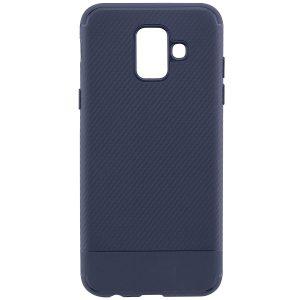 Cиликоновый (TPU) чехол Carbon  для Samsung Galaxy A6 2018 (Синий)
