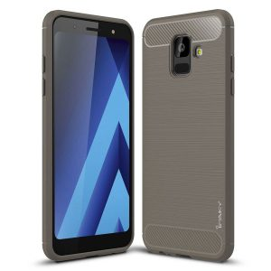 Cиликоновый (TPU) чехол Ipaky Slim Series  для Samsung Galaxy A6 2018 (Grey)