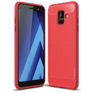 Cиликоновый (TPU) чехол Ipaky Slim Series  для Samsung Galaxy A6 2018 (Red)