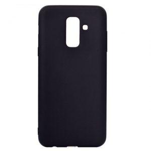 Матовый силиконовый TPU чехол для Samsung Galaxy A6 Plus 2018 (A605) – Черный