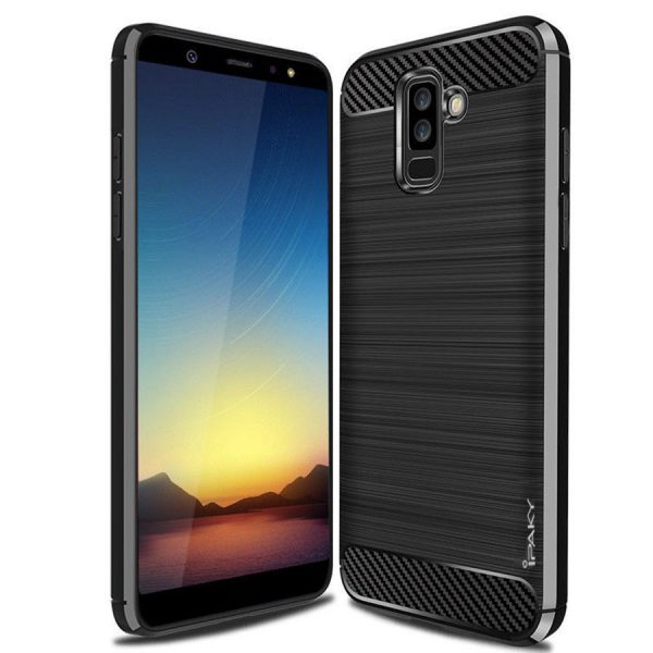 Cиликоновый (TPU) чехол Ipaky Slim Series для Samsung Galaxy A6 Plus 2018 (Black)