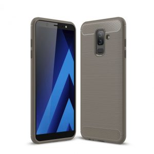 Cиликоновый (TPU) чехол Ipaky Slim Series для Samsung Galaxy A6 Plus 2018 (Grey)