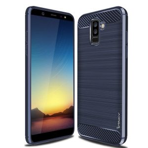 Cиликоновый (TPU) чехол Ipaky Slim Series для Samsung Galaxy A6 Plus 2018 (Navy Blue)
