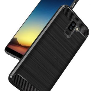 Cиликоновый (TPU) чехол Slim Series для Samsung Galaxy A6 Plus 2018 (Black)
