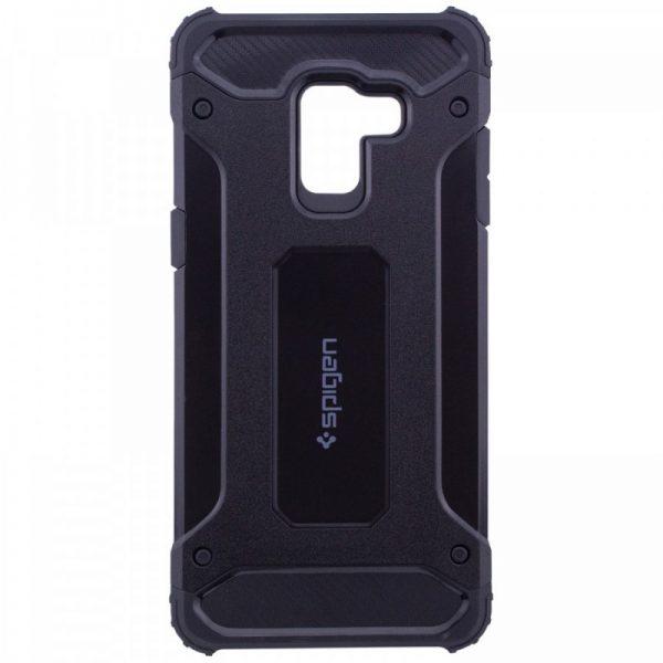 Противоударный бронированный чехол Spigen  для Samsung Galaxy A6 Plus 2018 (Black)