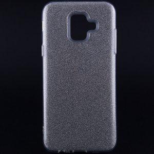 Силиконовый (TPU+PC) чехол Shine с блестками для Samsung Galaxy A6 2018 (Серебряный)