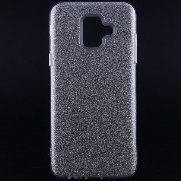 TPU чехол бампер с блестками Shine для Samsung Galaxy A6 (2018) Silver