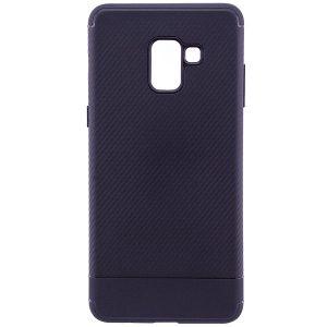 Cиликоновый (TPU) чехол Carbon  для Samsung A730 Galaxy A8+ 2018 (Черный)