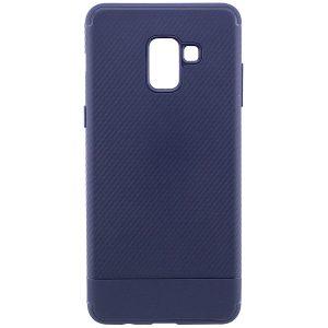 Cиликоновый (TPU) чехол Carbon для Samsung A730 Galaxy A8+ 2018 (Синий)