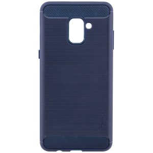 Cиликоновый (TPU) чехол Ipaky Slim Series  для Samsung A730 Galaxy A8+ 2018 (Navy)
