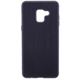 Cиликоновый (TPU) чехол Metal для Samsung A730 Galaxy A8+ 2018 (Черный)