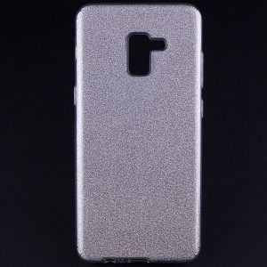 Силиконовый (TPU+PC) чехол Shine с блестками для Samsung A730 Galaxy A8 Plus 2018 (Серебряный)