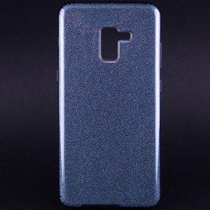Силиконовый (TPU+PC) чехол Shine с блестками для Samsung A730 Galaxy A8 Plus 2018 (Серый)