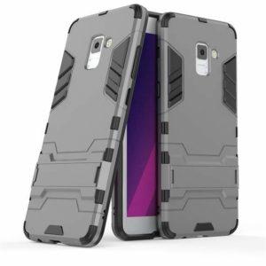 Ударопрочный чехол Transformer с подставкой для Samsung A730 Galaxy A8+ 2018 (Gun Metal)