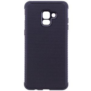 Cиликоновый (TPU) чехол Weave  для Samsung A730 Galaxy A8+ 2018 (Черный)