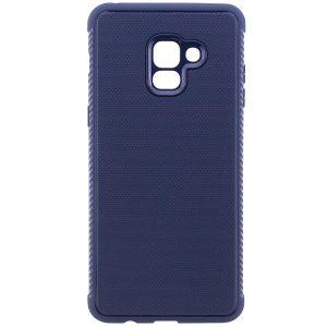 Cиликоновый (TPU) чехол Weave  для Samsung A730 Galaxy A8+ 2018 (Синий)