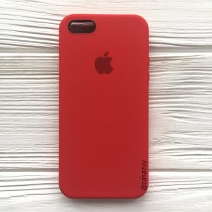 Оригинальный чехол Silicone Case с микрофиброй для Iphone 5 / 5s / 5c / SE №5 (Red)