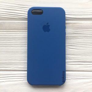 Оригинальный чехол Silicone Case с микрофиброй для Iphone 5 / 5s / 5c /SE №12 (Blue)